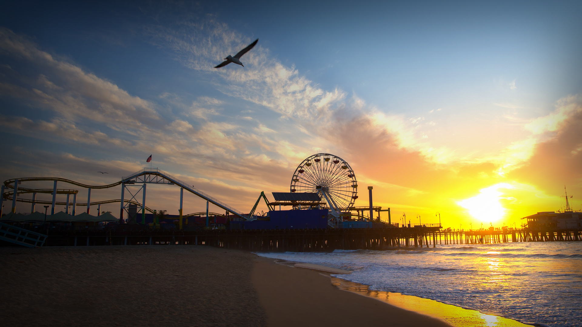 Santa Monica Sunset Cam Live Video Of Sunsets In California Explore Org