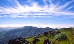 sunset from Mt. Diablo on Santa Cruz Island