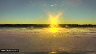 Sunset Naknek River, Alaska