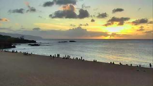 Waimea Bay & Beach Sunset