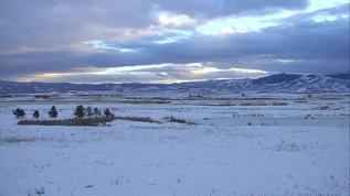 Beautiful winter evening. 1/20/18