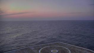 From the deck of the Frying Pan Tower, 30 miles off the coast of Cape Fear, NC.