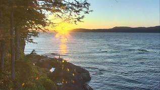 Rubbing Beach sunset 9:24 pm PST