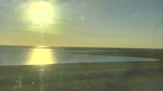 Fierce wind but beautiful liquid gold sunset Wapusk Cape North Sunset Cam