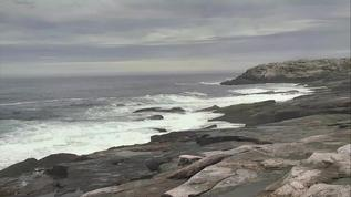 Overcast and turbulent on Seal Island @ 4:10 pm EDT