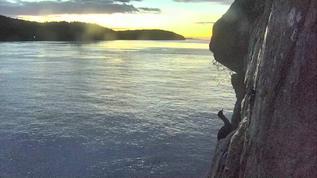 PI sunset with beautiful cormorant silhouette